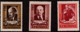 ROM SC #1021-3 MNH 1955 Lenin CV $3.90 - Unused Stamps