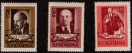 ROM SC #1021-3 MNH 1955 Lenin CV $3.90 - 1948-.... Republics