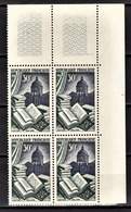 FRANCE 1954 - BLOC DE 4 TP /  Y.T. N° 971 - NEUFS** COIN DE FEUILLE - France