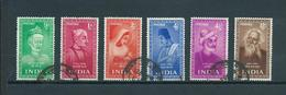 1952 India Complete Set Famous Persons Used/gebruikt/oblitere - 1950-59 Republiek