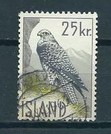 1960 Iceland 25Kr. Birds Of Prey,falcon Used/gebruikt/oblitere - 1944-... Republik