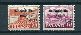 1953 Iceland Complete Set Hollandshjálp Used/gebruikt/oblitere - 1944-... Republic