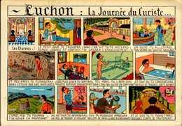 LUCHON : LA JOURNEE DU CURISTE  .....CPM - Humor