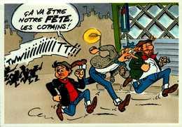 CA VA ETRE NOTRE FETE LES COPAINS ! ...LES PIEDS NICKELES.....CPM - Comics