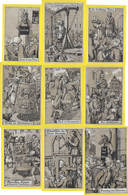 Full Set 9 Künstler AK, Mittelalter, Bestrafung, Folter, Nürnberg, Um 1912, Sign. Ad. J ֎ Adolf Jodolfi - Adolf 'Jodolfi'
