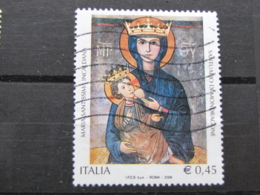*ITALIA* USATI 2006 - MARIA SANTISSIMA INCALDANA - SASSONE 2895 - LUSSO/FIOR DI STAMPA - 6. 1946-.. Repubblica