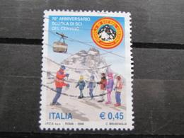 *ITALIA* USATI 2006 - 70° SCUOLA SCI CERVINO - SASSONE 2898 - LUSSO/FIOR DI STAMPA - 6. 1946-.. Repubblica