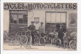 CPA 16 ANGOULEME Construction Mecanique Cycles Et Motocyclettes A.Tapon 10 Rampe Nord Du Port - Angouleme