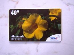 FRANCE  OUTRE   MER  FLOWERS ALAMANDA   TOP   MINT - France