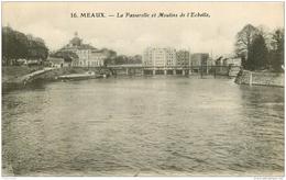 77 MEAUX. Moulins De L'Echelle Et Passerelle 1908 - Meaux