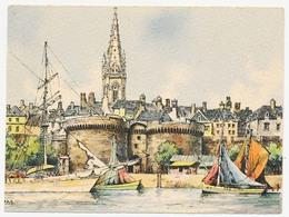 CPSM 10.5 X 15 Barre Dayez Ille & Vilaine SAINT MALO Les Remparts Illusttrateur Barday - Saint Malo