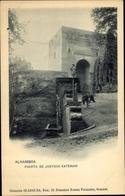 Cp Granada Andalusien Spanien, Alhambra, Puerta De Justicia, Exterior, Burro - Autres