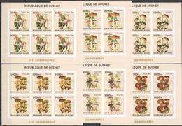 F775 IMPERFORATE 2002 GUINEA FLORA MUSHROOMS CHAMPIGNONS !!! 6SET MNH - Funghi