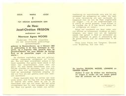 Devotie - Devotion - Doodsprentje Overlijden Oudstrijder - Joseph Chrétien Frisson - Bommershoven 1882 - Tongeren 1968 - Obituary Notices