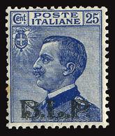 ITALY ITALIA REGNO 1922-23 25 C. B.L.P. (Sass. 8) PUNTO RUGGINE ** OFFERTISSIMA - 1900-44 Vittorio Emanuele III
