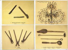 Cp , Métier ,outils, Collections Thebault-Ponty , Cliché P. Mérat, Vierge ,1986, MARECHAL FERRAND,  LOT DE 10 CP D'OUTIL - 5 - 99 Cartes