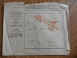 Lettres Tombées En Rebut (5) Depuis 1868 - Marcophilie (Lettres)