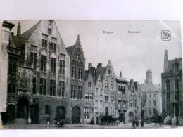 Brugge, Bruges, Brügge. Boekzaal. Alte AK S/w, Gel. Als Marine - Feldpost Ca 1916. Gebäudeansichten, Partie Am - Niederlande