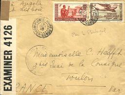 De POINTE NOIRE ,passage Par L'ANGOLA(LUANDA) Voie Du PORTUGAL(Censure) -1940 - - French Congo (1891-1960)