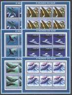 F973 2002 MOZAMBIQUE ANIMALS & FAUNA WHALES 6SET MNH - Baleines