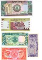 Sudan Lot 5 Banknotes UNC - Soudan
