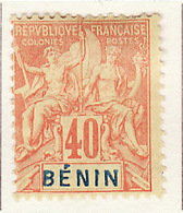 Bénin - Dahomey 1894 Y&T N°42 - Michel N°39 * - 40c Type Sage - Ungebraucht