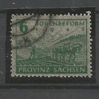 Sowjetische Zone (SBZ). Bodenreform In Sachsen, Nr. 90 Z Gestempelt, Geprüft BPP - Sowjetische Zone (SBZ)