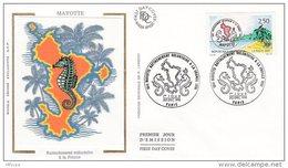 L4R237 FRANCE 1991  FDC Rattachement Mayotte 2,50f Paris 20 12 1991 /envel.  Illus. - FDC