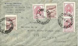 ARGENTINA, CARTA CIRCULADA A COLOMBIA - Argentina