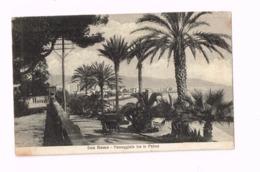 Passaggiata Tra Le Palme.Expédié En Franchise Militaire à Boisemont (Val D'OIse/FRance) - San Remo