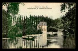 91 - CROSNES - BIEF DU MOULIN A EAU DE VILLENEUVE-ST-GEORGES - Crosnes (Crosne)
