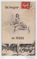 03) UN BONJOUR DE VICHY - FILLETTE SUR AVION - THEME SURREALISME - Vichy