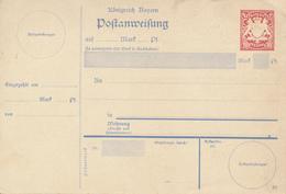 BAYERN  - 1908/11 , Postanweisung - Bavaria
