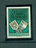 Österreich, Kärnten Volksabstimmung, Nr. 952 Postfrisch ** - 1945-.... 2. Republik