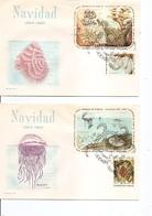 Cuba - Vie Aquatique ( 3 FDC De 1964 à Voir) - FDC