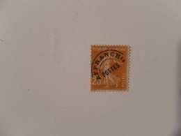 FRANCE  YT PR57b SEMEUSE 25c. Jaune-brun E Avec Crochet - Préoblitérés