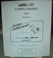 MOC - JEU MONACO MOCLAIR 1983 (Avec Pochettes) - Pré-Imprimés