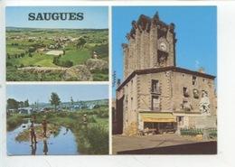 Saugues (43) Multivues : Générale église Monument Camping (cp N°16298) - Saugues