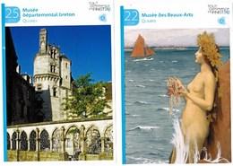 Fiche Touristique  Publicitaire  Quimper Finistère Musée Des Beaux- Arts  Musée Départemental Breton Lot De 2 TBE - Publicité