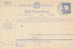 BAYERN  / KOHLGRUB  - 1890    , Postanweisung - Bayern