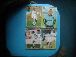 SPORTS- 4 CP Joueurs Foot Olympique De Marseille 98/99 - Calcio