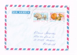 Lettre De Sestao (Vizcaya) à Angre (Belgique). Champignons. - 1931-Aujourd'hui: II. République - ....Juan Carlos I
