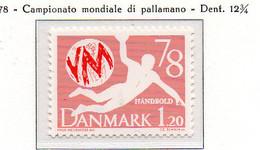 PIA - DANIMARCA -1978 : Campionati Mondiali Di Pallamano  - (Yv 656) - Pallamano