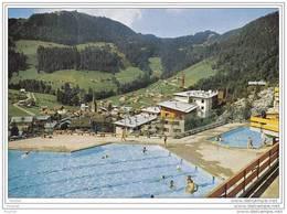 74) La Clusaz.- (Haute Savoie)  La Piscine , Le  Village  Et  Beauregard - La Clusaz