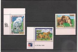 BURKINA FASO  Faune: Éléphants Et Lions Années 1999/2000** Côte :24,80 € - Burkina Faso (1984-...)