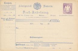 BAYERN   - 1874  ,  Postanweisung - Bavaria