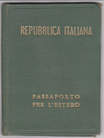 Passaporto Per L'estero Passeport Italie Timbre Fiscal France 21 Juin 1948 Très Bon état - Fiscali