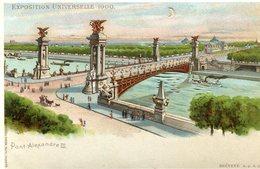 CARTE TRANSPARENTE(EXPOSITION 1900 PARIS) - Halt Gegen Das Licht/Durchscheink.