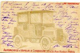 CARTE TRANSPARENTE(PARIS) AUTOMOBILE - Hold To Light