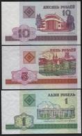 B9 - BELARUS Lot De 3 Billets Année 1998 - Belarus